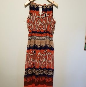 Stevie and Lindsay retro color maxi dress